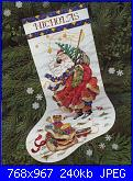 Dimensions 8496 - Windswept Santa Stocking-dimensions-8496-windswept-santa-stocking-jpg