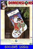 Dimensions 8714 - Santa and Snowman Stocking-dimensions-8714-santa-snowman-stocking-jpg
