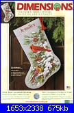 Dimensions 8738 - Early Snow Cardinals Stocking-dimensions-8738-early-snow-cardinals-stocking-jpg