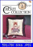 The Cricket Collection 74 - Cross Stitch Folk Angel - Vicki Hastings 1990-74-jpg