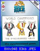 Heritage Crafts CRSY1044 - Cats Rule - The Synchronised Yawn by Peter Underhill 2011-synchronised-yawn-jpg