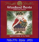 Mill Hill Woodland  Santa WS9 HOLLY & IVY SANTA-402307-2fcaa-111301006-uf4daf-jpg