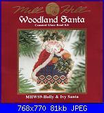 Mill Hill Woodland  Santa WS9 HOLLY & IVY SANTA-402307-2fcaa-111301006-uf4daf-jpg