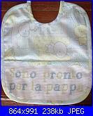 ricami eseguiti su bavetti di aliluca-bavaglino-sono-pronto-per-la-pappa-jpg