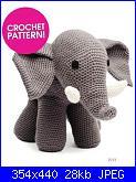 Elefanti, coccodrilli e serpenti-elephant-free-pattern-jpg