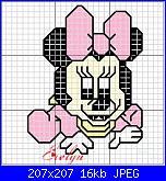 Quadretto con Minnie Baby-minnie-baby-fiocco-jpg