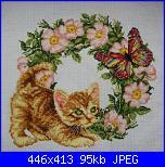 ghirlanda gattino con i fiori-95671485-jpg