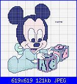 SCHEMI DISNEY-disegni-punto-croce-baby-topolino-jpg