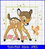 SCHEMI DISNEY-disegni-punto-croce-bambi-jpg