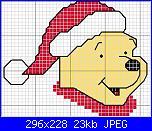 pooh natalizio-disegni-punto-croce-winnie-natalizio-jpg