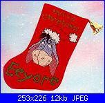 "winnie pooh albero di Natale:""Winnie and Friends Christmas Tree""-ds-x-011-eeyores-xmas-stocking-jpg"
