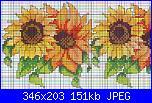 Fiori gialli  per tovaglia-schema-punto-croce-girasoli%5B1%5D-jpg