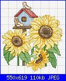 Schema girasoli-schema-punto-croce-girasoli-jpg
