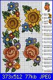 Schema girasoli-bordo-girasoli-e-rose-jpg