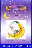Cerco bebè appeso con spilla da balia, bimbo e fatina su luna, fatina.-1090564725-1-jpg