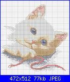 Schema gatto con fiocco verde-gattino_sdraiato-jpg