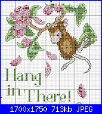 """colori dmc x Dimensions 65041 House Mouse """"Hang In There""""-001-jpg"""