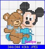 scritta Mamma e Nicolò + baby mickey-topolino-orso-jpg