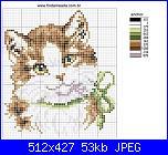 Schema gatto con fiocco verde-gato-jpg