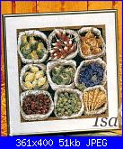 "rivista ""Labores de Ana"" / OOE ""65161 Market Bounty"" e ""65160 Violet Nosegay""-sacchetti-verdure-foto-jpg"