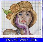 schemi cappellini punto croce-lady01-jpg
