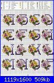 Asciugamani floreali-alfabeto-viole-2-jpg
