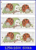 Schemi per striscia lenzuolino-coccinelle-bordo-jpg