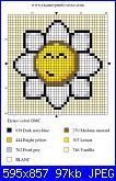 schemi margherite punto croce e alfabeto corsivo grande-punto-croce-margherita-jpg