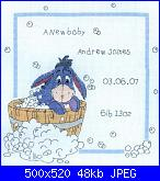 Cerco schema quadretto nascita Hi-ho-new-baby-asinello-jpg