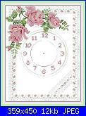 Orologio per cucina.-pink-rose-clock-jpg