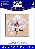 cerco vine rose e rose eglantine - isabelle bard-dmc-deco-bk003-wild-rose-jpg
