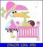 Cicogna rosa che porta una bimba-cicogna-rosa-4-jpg