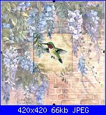 Hummingbird and Wisteria dimensions-dim73070-jpg