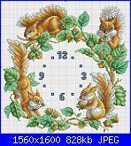 legenda dei colori-schema-punto-croce-orologio-con-gli-scoiattoli-jpg