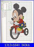 Schema personaggio Disney su triciclo-disney-jpg
