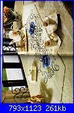 Consiglio per striscia tavolo-centrotavola-rosa-blu-jpg