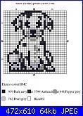 cagnolino stilizzato per segnalibro-punto-croce-cane-dalmata-jpg