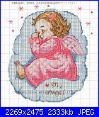 cerco legenda bimbo con ali che dorme sulla nuvola-rosa-jpg