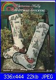 Victorian Holly Christmas Stocking - Stoney Creek-victorian-holly-orig-jpg