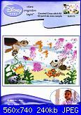 Cerco schema quadro nascita con i personaggi di Nemo-dmc-bl899-nemo-friends-jpg