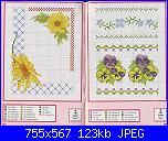 Schema con girasole poco nitido-idee_95-girasole-jpg