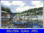 Dmc counted cross stitch kit - bk941 polperro-bk941-jpg