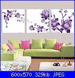 Schemi trittici-hot-sale-needlework-print-purple-flowers-elegant-bedroom-font-b-triptych-b-font-font-b-cross-jpg