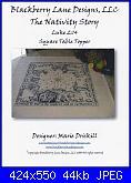Square Table Topper - Nativity Story - Blackberry Lane designs-square-table-topper-nativity-story-jpg