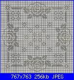 Schema per cuscino portafedi nozze d'oro-centro-quadrato-filet-rose-01-jpg