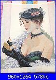 Cerco schema Lady with lipstick Lanarte-01-jpg
