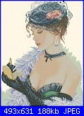 Cerco schema Lady with lipstick Lanarte-pc-jpg