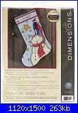 Cerco  Dimensions 70-08924 - Tall Hat Snowman Stocking-dim-70-08924-jpg