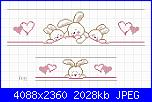 Bordo per lenzuolino e federa neonato-coniglietti-jpg