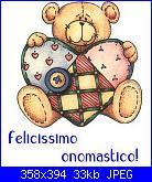 auguri a tutti i francesco e francesca-orsetto-con-cuore-patchwork-jpg